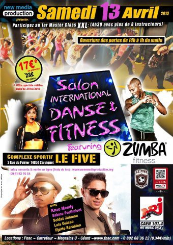 CONVENTION ZUMBA CAEN LE SAMEDI 13 AVRIL 2013