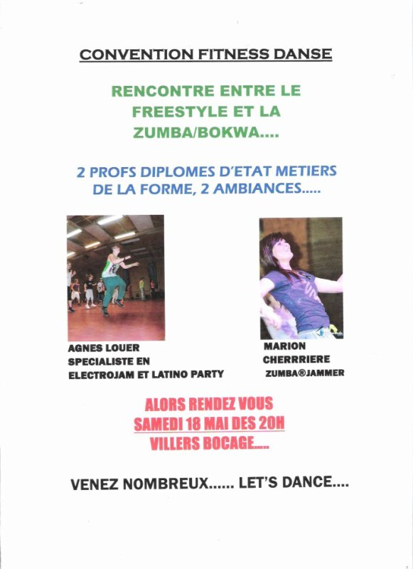 CONVENTION FITNESS DANSE