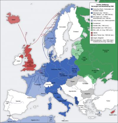 Invasion de la belgique de la france et des pays-bas